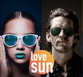 Frau und Mann mit Sonnenbrille