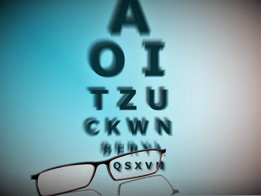 Sehtest und Brille