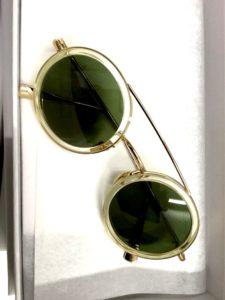 Runde Sonnenbrille mit transparenter Fassung von Kaleos bei Optik Westermeier