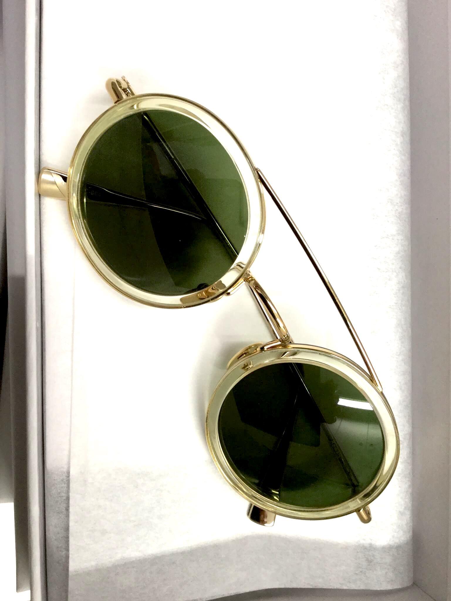 Sonnenbrille mit runder, transprenter Fassung von Kaleos-Eyehunters bei Optik Westermeier