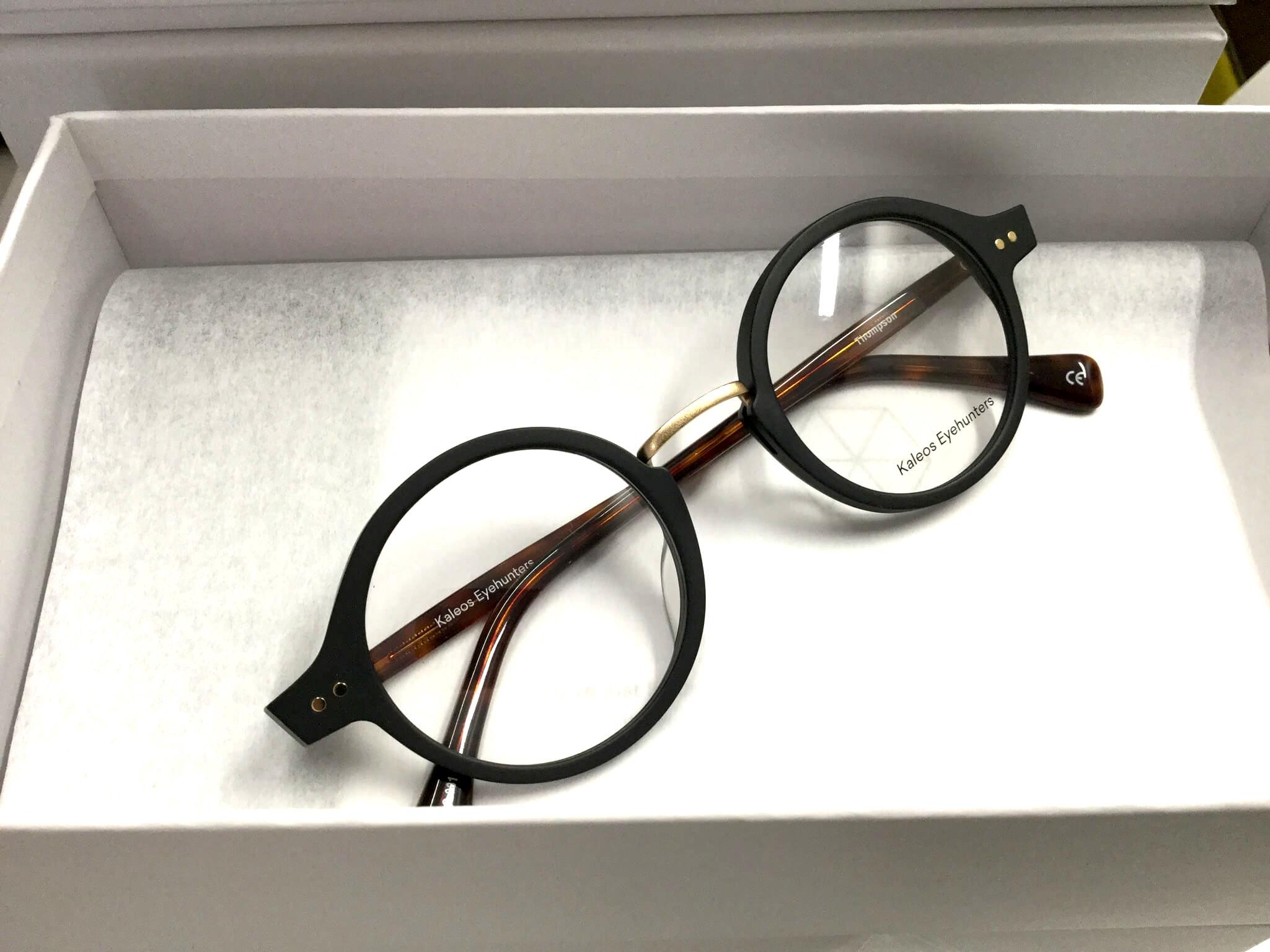 Schwarze runde Brille von Kaleos Eyeware - zu kaufen bei Optik Westermeier