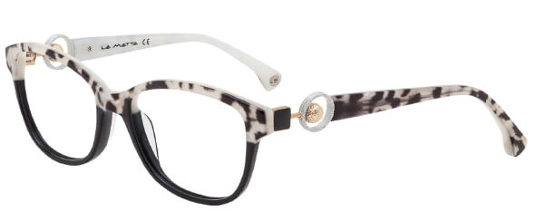 Brille im Zebra-Look