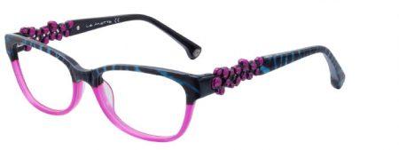 Brille mit blumenverzierten Bügeln