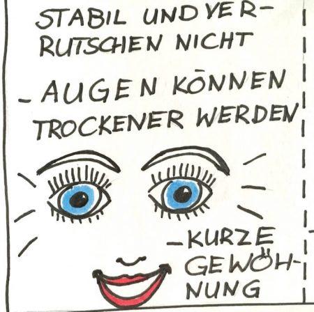 Lachendes Gesicht mit strahlenden Augen - Zeichnung