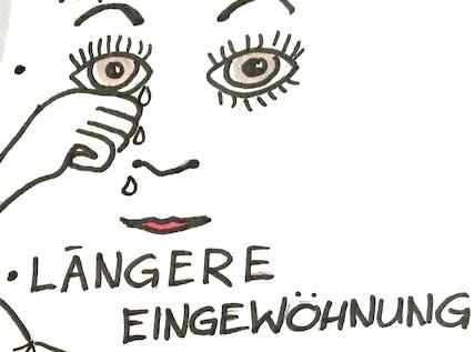 Tränende Augen - Zeichnung