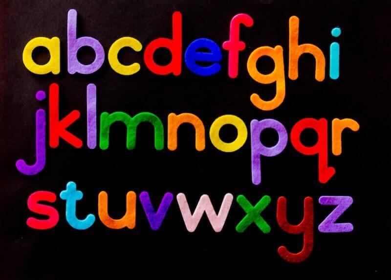 Filz-Buchstaben-Alphabeth