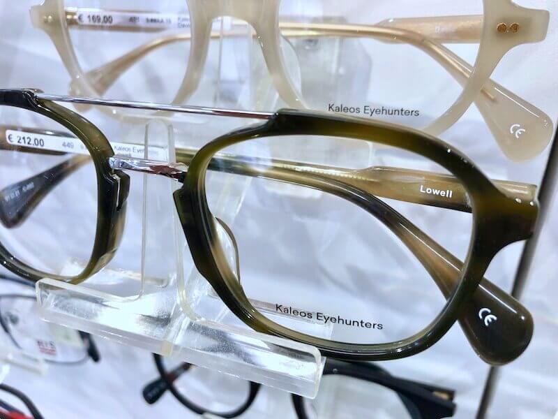 Acetat-Brille mit Metallelementen
