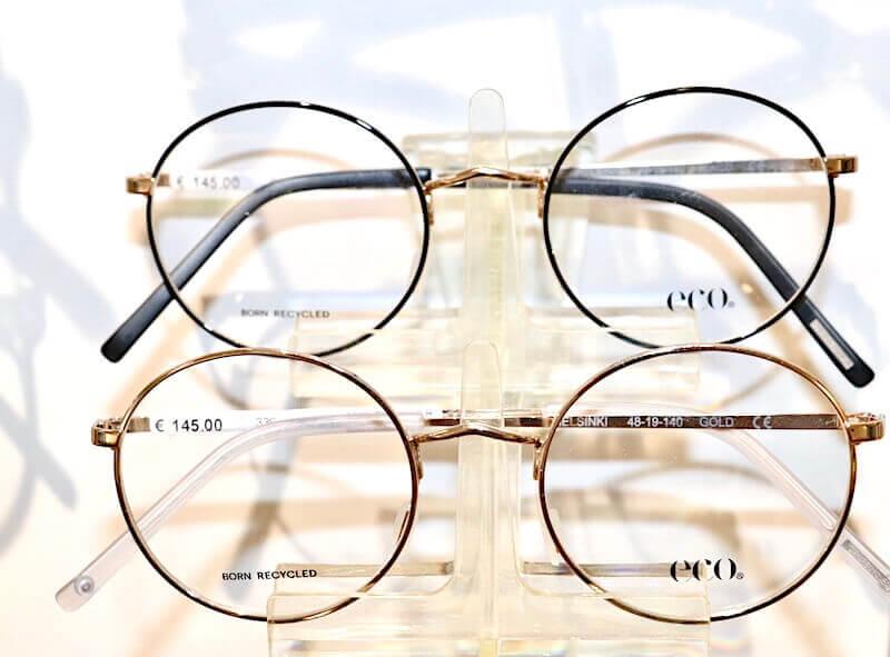 Brille-2020-zwei-runde-metallbrillen-eco-trends