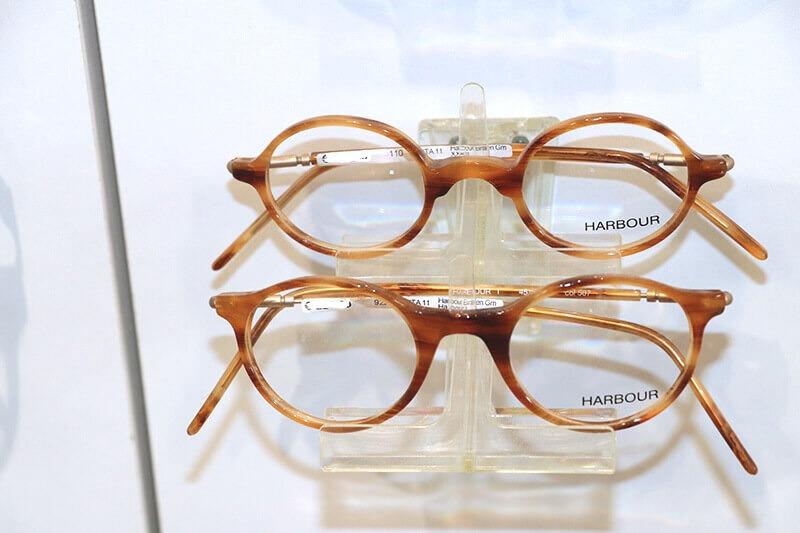 Hellbraun melierte Brillen von Harbour