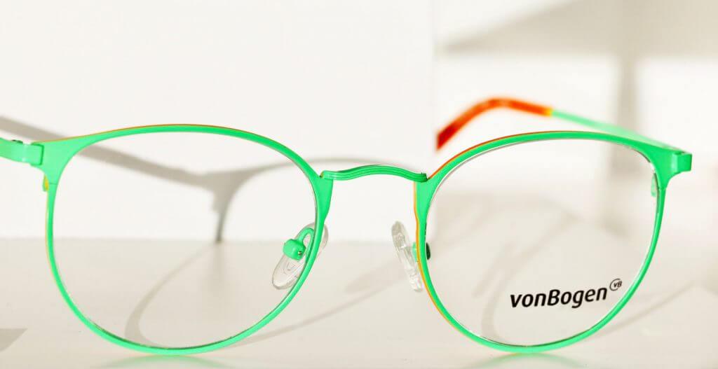 Brillen kaufen - Neongrüne ovale Brille von Hersteller von Bogen