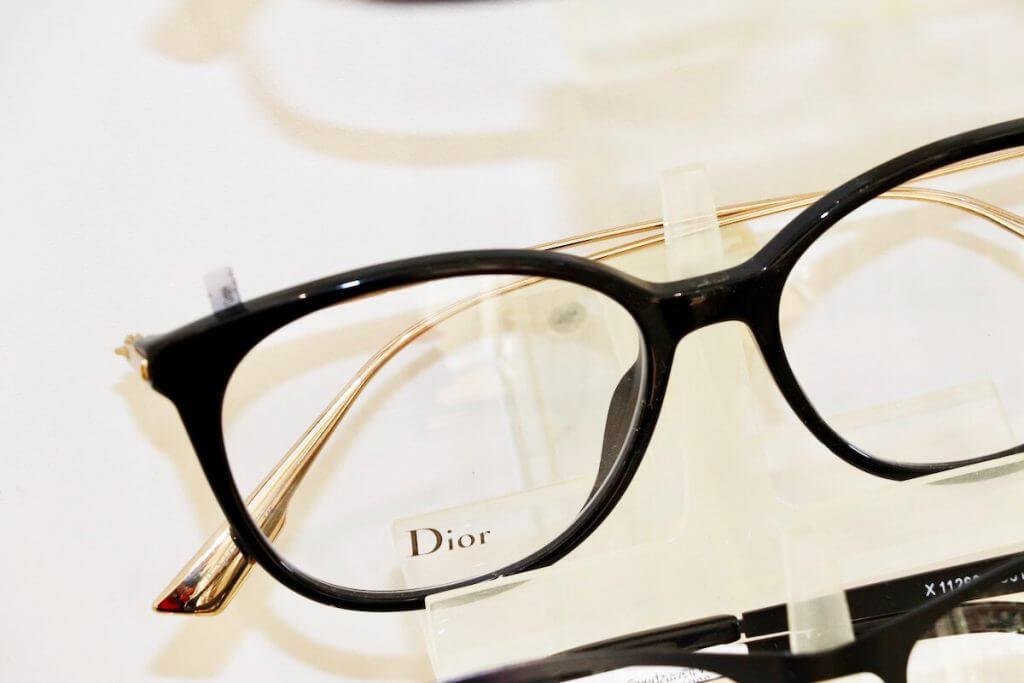 Brille mit schwarzem Rand von Dior