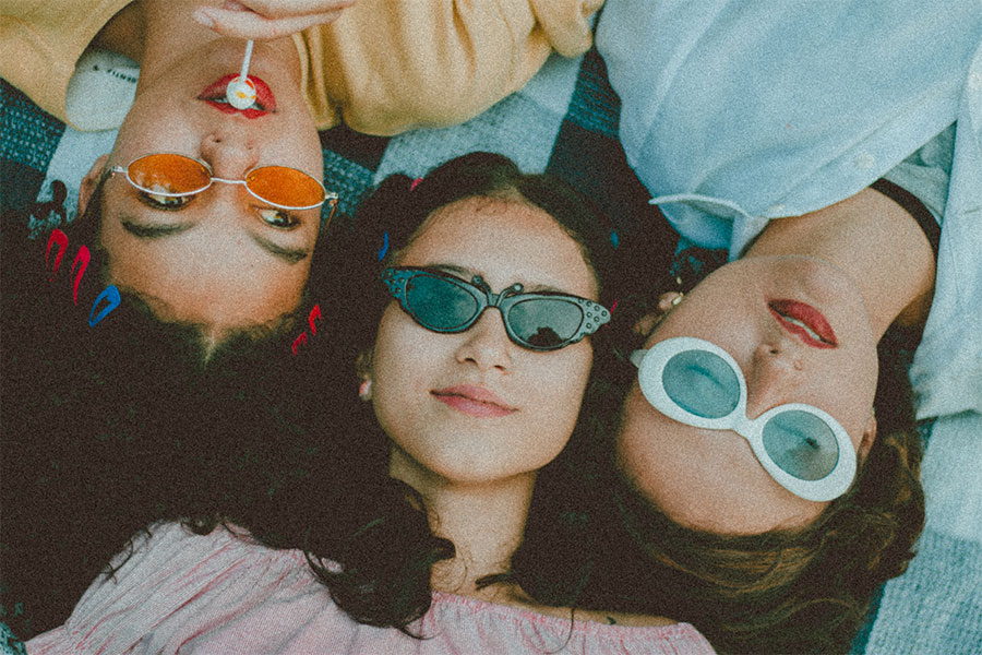 Sonnenschutz-Frauen-Sonnenbrillen