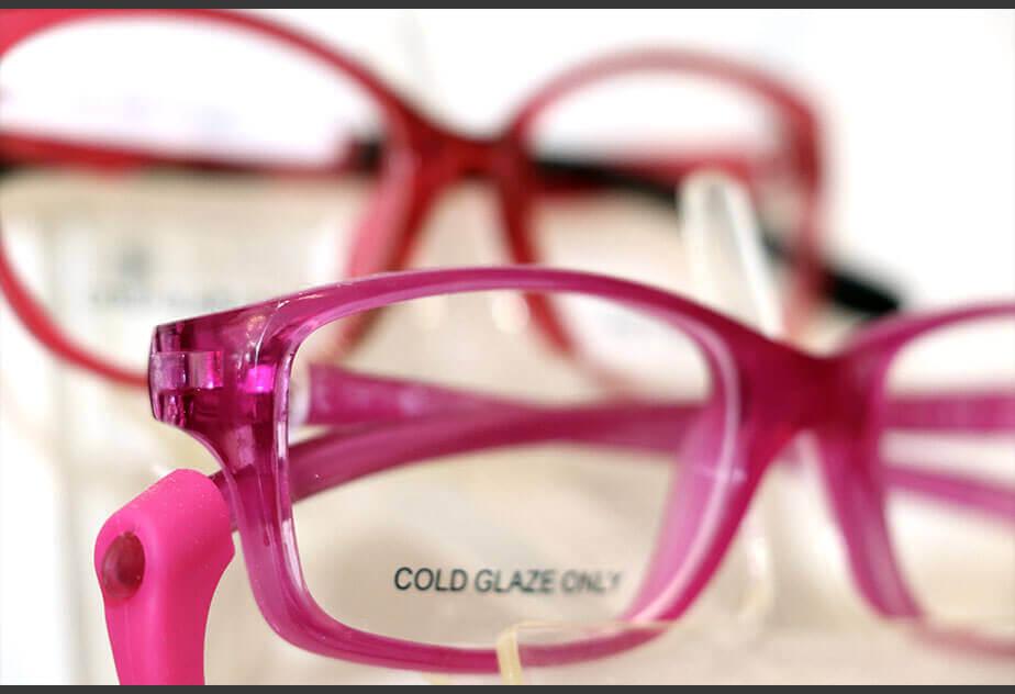 Rosa-Kinderbrille